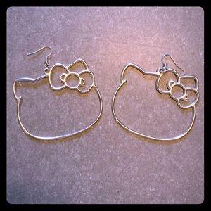 Sanrio Hello Kitty hoop earrings.